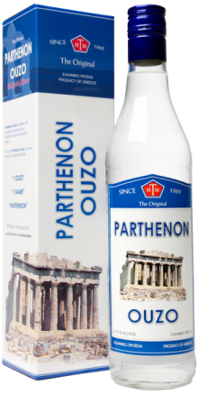 Parthenon Ouzo Gift Box 700ml
