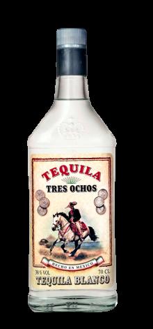 Tequila Tres Ochos Blanco 700ml