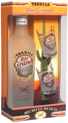 Tequila Rio Grande Gold Gift Pack 700ml