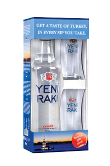 Yeni Raki Gift Glass Gift Pack 700ml