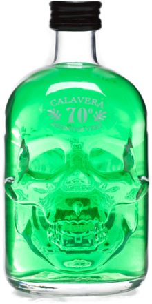 Calavera Skull Absinthe Green 500ml