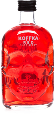 Koffka Skull Red Sloe Berry Liqueur 500ml