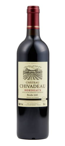 Chateau Chivadeau AOP Bordeaux Red 2016 750ml